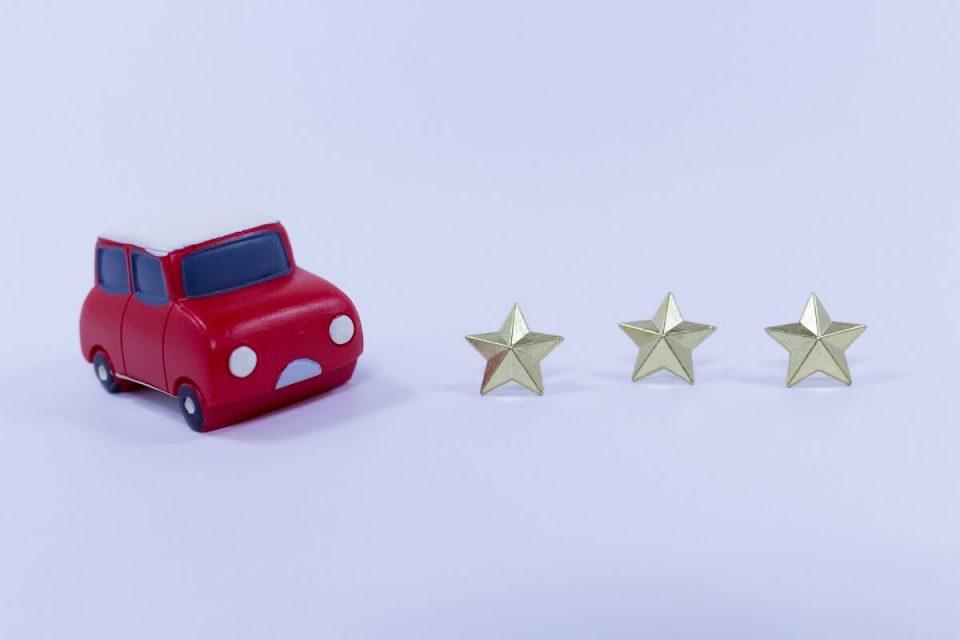 車と星3つ